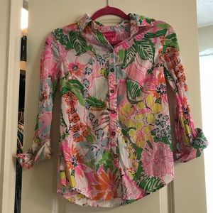 Lilly Pulitzer for Target XS button down